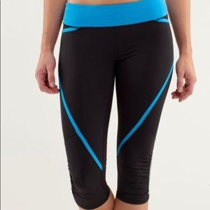 Lululemon Run Pace Crop Reflective